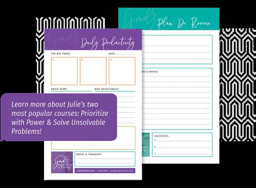 Courses, Julie Miller Davis Productivity Training