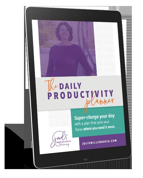 Julie Miller Davis's Daily Productivity Planner